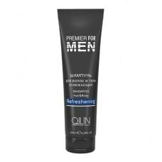 OLLIN premier for men шампунь для волос и тела освежающий 250мл/ shampoo hair&body refreshening